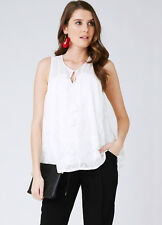 NEW - Ripe Maternity - Double Layered Lace Nursing Top - Maternity Top