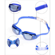 Swim Goggles - No Leaking Anti Fog UV Protection with Ear Plugs and Nose Clip E4