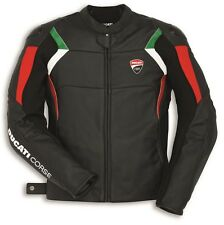 Ducati Dainese Corse C3 Leather Jacket Leather Jacket perf. All Black NEW 2018