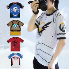 Overwatch D.VA DVA T-shirt Cosplay Anime Tops Cartoon Clothing Short Sleeve Tee