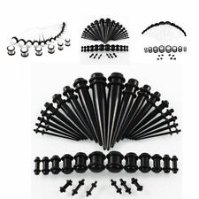 Tapers Plugs Ear Eyelet Acrylic Ear Stretching Kit with Double O-rings 36Pcs EB4