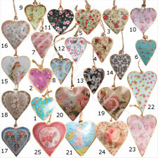Shabby Chic Hanging Hearts Vintage Style Christmas Tree Decoration Home Gift