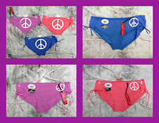 ALL SIZES : 3 X PAIRS COTTON PEACE KNICKERS BRIEFS PANTS BY LOVING MOMENTS BNWT