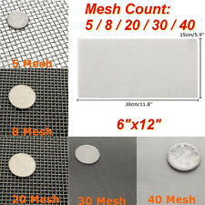 4/10/50/100 Mesh 304 Stainless Steel Woven Wire Filtration Filter Screen Sheets