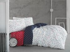 100% Cotton Polka Dot Bedding,Quilt/Duvet Cover Set,Single/Twin Size, Red White