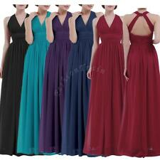 Sexy Women Chiffon Halter V Neck Bridesmaid Long Maxi Evening Prom Gown Dress
