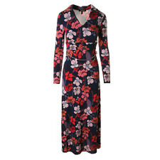 NWT JUICY COUTURE Navy Maxi Floral Print Chain Belt Casual Dress XS M $298