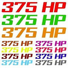 375 HP Decal Graphic Fits Dodge Challenger R/T Hemi Engine 5.7L MULTIPLE COLORS