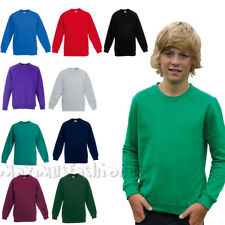 Girls Boys  FOTL Plain School Uniform Crewneck Sweatshirt Jumper Full Sleeve Top