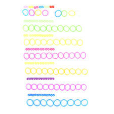 600PCS/bag braided rubber bands loom refill DIY bracelet rubber anklet clips BH