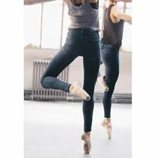 Zipper Fly Cotton Fabric Full Length Pencil Denim Jeans For Women ABI1238