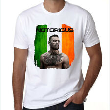 T-Shirt Conor Mcgregor MMA Fight UFC Print Mens Fashion Notorious Irish Casual L