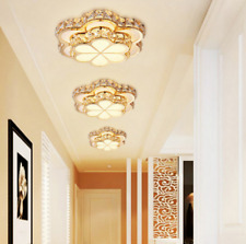 Clover Crystal LED Iron Acrylic Ceiling Lamp Home Decoration