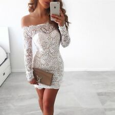 Women Fashion Lace Hollow Out Printing Strapless Above- Knee Mini Dress