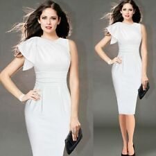 Summer Wear Ruffle Sleeve Ruched Fitted Stretch Pencil Dress For Women