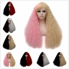 US STOCK Full Long Hair Women Wavy Curly Wigs Two-color Mixed Christmas Wig WIG