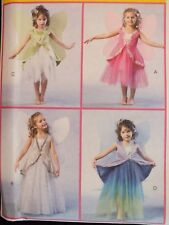 OOP McCALLS 4887 Girls Fairy Princess Angel COSTUME PATTERNS 2-3-4-5/6-7-8 UC
