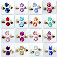 Wholesale hot  20PCS Resin Rhinestones Rivoli Loose Spacer Beads 16mm DIY