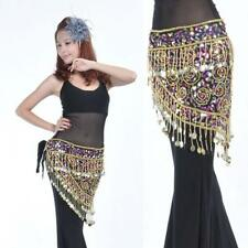 Belly Dance Hip Scarf Belt Wrap with Coin Tassel Sequins Costume Accessory