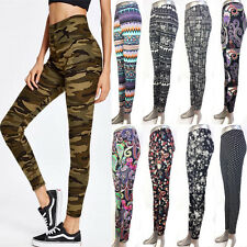 Plus Superior Girl BOHO Funky Flowers Printed Women Pants Ankle/Cropped Leggings