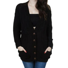 Loose V-neck bat sleeves button knit cardigan sweater