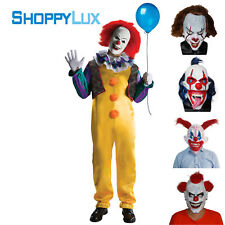 Scary Pennywise Devil Prop Halloween Evil Latex Creepy Clown Mask Horror Costume