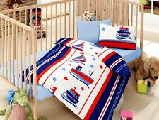 100% Cotton Baby Boys Crib Bedding, Baby Duvet Cover Set+Comforter 5PCS 10 COLOR