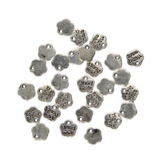 100pcs  Metal Hand Made Label Flower Charms Pendant For Jewelry Making Craft