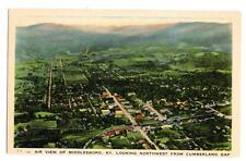 Air View of Middlesboro KY Looking from Cumberland Gap vintage linen postcard