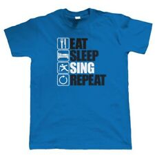 Eat Sleep Sing Repeat, Mens Funny, Vocals T Shirt, Gift Dad