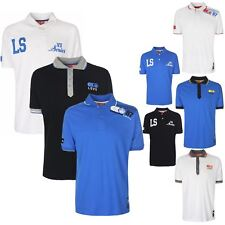Mens LSVII Branded Short Sleeve Casual Polo Neck Collared T-Shirt Cotton Tee Top
