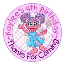 """1.5"""", 2"""",2.5"""" ABBY CADABBY CUSTOM ROUND BIRTHDAY PARTY STICKERS FAVORS LABELS"""