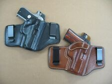 Azula 2 Clip IWB Leather Concealed Carry Holster CCW ..Choose Gun & Color - A