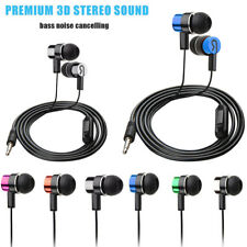 3.5MM Stereo In-Ear Earphone W/Mic Noise Cancelling Earbuds for iPhone 5 6s MP3