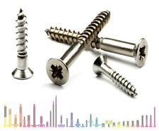 No.6 Stainless Steel Countersunk Pozi Wood Screws