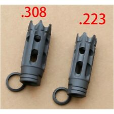 F&N Tactical TPI Carbon Steel Muzzle Brake for .223 /.308 Thread  w/Crush Washer
