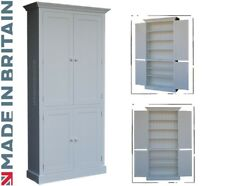 Traditional 7ft Tall 4 Door Painted Pine Pantry-Linen-Larder-Kitchen Cupboard