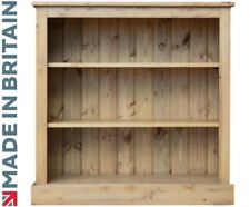 Contemporary Solid Pine 3ft x 3ft Adjustable Display Bookcase, Bookshelves