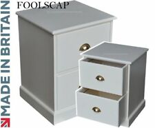 Cream Filing Cabinet, Painted Home Office 2 Drawer Folio Foolscap Filing Unit