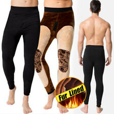 Mens Fur Lined Thick Winter Warm Pants cotton Slim jeggings elasticity Trousers
