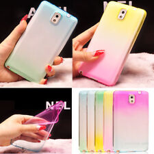 Cool Colorful Ultra Thin Soft Silicone Case Tricolor Cover For Samsung Galaxy