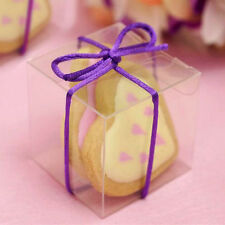 """CLEAR Plastic FAVOR BOXES 2""""x2"""" Wedding Party Decorations GIFT Wholesale Supply"""