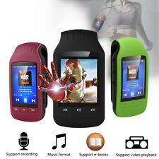 Mini Clip MP3 music Player 8GB Bluetooth Sport MP3 Player FM Sport Pedometer MP3