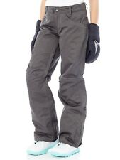 686 Charcoal Slub Patron Insulated Womens Snowboarding Pants