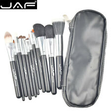 JAF® 12pcs Professional High Quality Make Up Brush Set Leather Case with Zipper