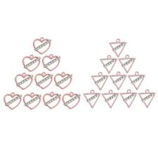 10pcs Pink Heart/Triangle Alloy Charms Pendant Findings for DIY Jewelry Making