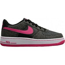 Nike Grade School Air Force 1 Running Shoes, 314219 016 Sizes 5Y-7Y Black/VPink/