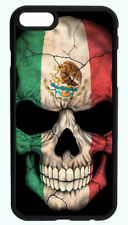 MEXICO SKULL SKELETON FLAG PHONE CASE COVER FOR IPHONE X 8 7 6S 6 PLUS 5 5S 5C 4