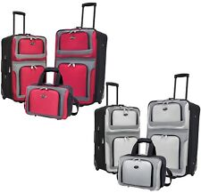 New Yorker 3pc Light Expandable Rolling Luggage Suitcases & Tote Bag Travel Set