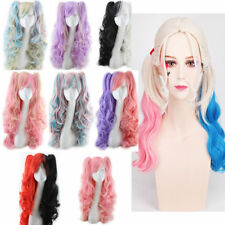 Lolita Full Curly Wigs Halloween Pigtails Wavy Hair Cosplay Costume Anime Party